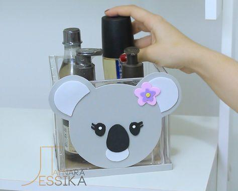 DIYs FOFINHOS KAWAII 🐼 RECICLADOS   Estojo Panda, DIY Koala, Organizador   Jessika Taynara
