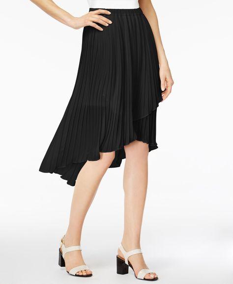 Plus Size Plaid High Low Overlap Grommet Buckle Skirt