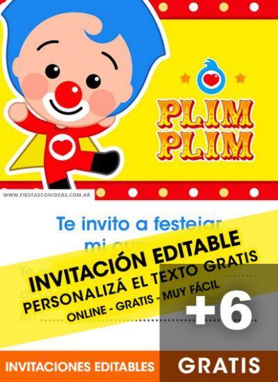 134 Best Plim Plim Images On Pinterest Invitaciones De