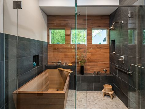 Small Japanese Bathroom Ideas - Small Japanese Bathroom Ideas In home designs, bathrooms are generally accustomed low priority. During a remodel, the Modern Japanese Interior, Japanese Style House, Japanese Interior Design, Japanese Bath House, Japanese Design, Japanese Bathtub, Japanese Soaking Tubs, Interior Exterior, Bathroom Interior Design