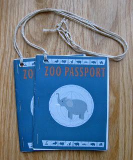 Zoo Passports - great for a zoo field trip!