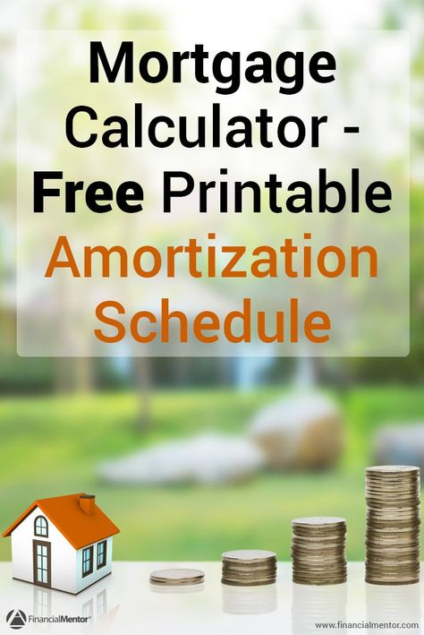 Mortgage Payment Calculator - with Amortization Schedule - amortization spreadsheet