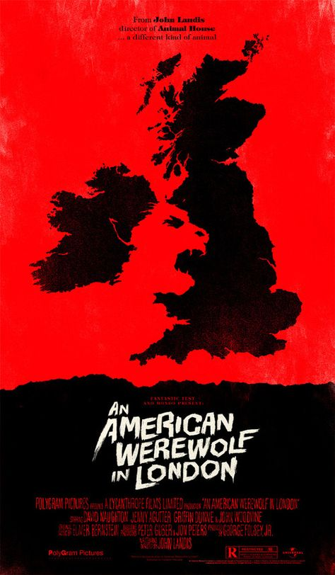 American Werewolf in London Alternative Movie Poster by Olly Moss