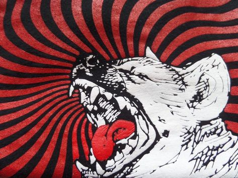 The Hyenas Black And Red Band T Shirt Rock Punk Size M Hyena Red