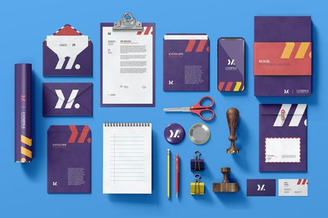 Stationery Mock-Up Pack by EightonesixStudios on Envato Elements