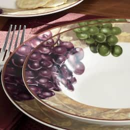 Grape Vineyard Dinnerware Set Large Dinnerware Set