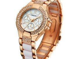 Značkové dámske hodinky s úpravou v ružovom zlate  9ab5604553