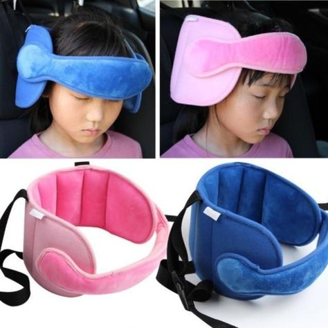Car Seat Head Support - Blue