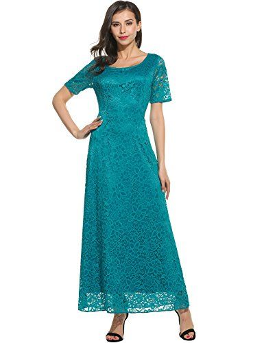 e5ead88fc4 Simier Fariry Women's Scoop Neck Pockets Pleated Loose Swing Casual Maxi  Dress at Amazon Women's Clothing store: | General Leia cosplay - The Last  Jedi