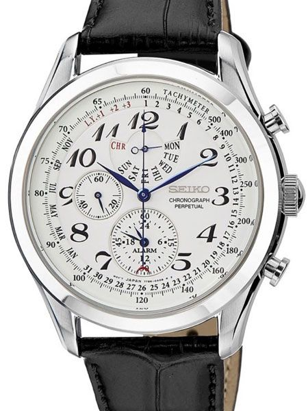 Seiko Chronograph Alarm Watch With Perpetual Calendar And 44 6mm