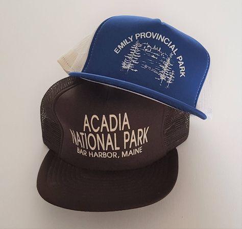 Vintage Lot (2) Trucker Style Snapback Hats VTG by StreetwearAndVintage on  Etsy 99c8211fd348