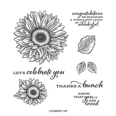 Shimmery Sunflower In 2020 Sunflower Cards Stamp Set Stampin Up