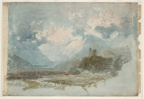 Dolbadarn Castle Colour Study Joseph Mallord William Turner