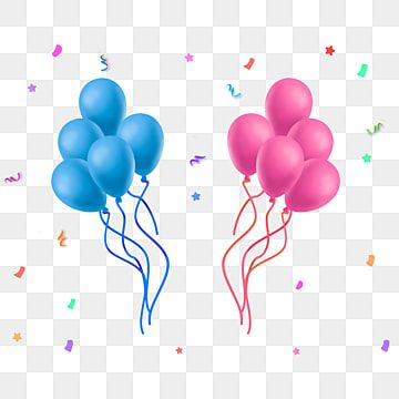 Two Bunches Of Festive Pink Blue Balloons Balloon Clipart Festival Balloon Holiday Decoration Png Transparent Clipart Image And Psd File For Free Download Blue Balloons Pink Painting Pink Balloons