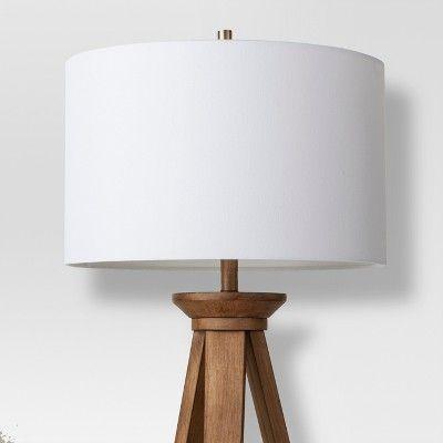 Oak Wood Tripod Floor Lamp Brass Threshold Tripod Floor Lamps Floor Lamp Wooden Floor Lamps