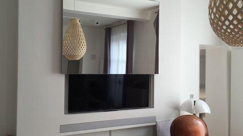 Nous Avons Toues Les Solutions De Motorisation Tv Integration Plafond Mur Ascenseur Meuble Projets Sur Me Sallon Salle A Manger Deco Maison Meuble Cache Tv