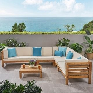 Oana Outdoor Sectional Sofa Set With Coffee Table By Christopher