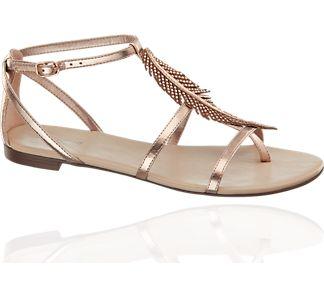Sandale von Graceland in gold | Deichmann