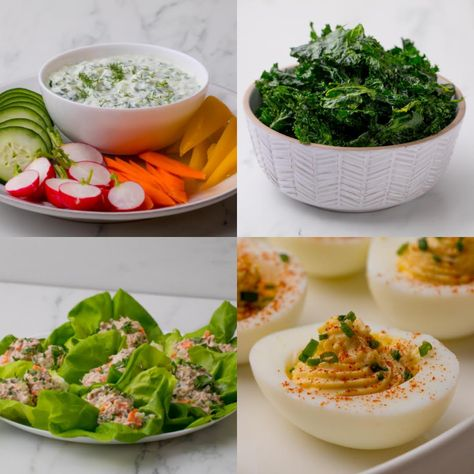 Start the New Year off right with these low-carb snacks. In 15 minutes or less, they couldn't be easier!