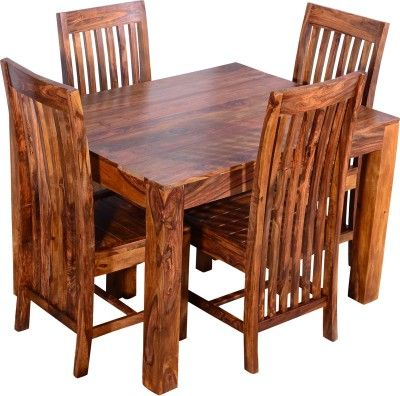 Ringabell Solid Wood 4 Seater Dining Set Finish Color Teak