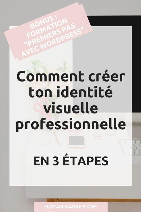 Comment créer une identité visuelle professionnelle Tu veux créer ton site internet professionnel ou bien l'améliorer ?  As-tu pensé à commencer par travailler ton identité visuelle ?   #branding #graphisme #website #wordpresswebsite #blog #blogging