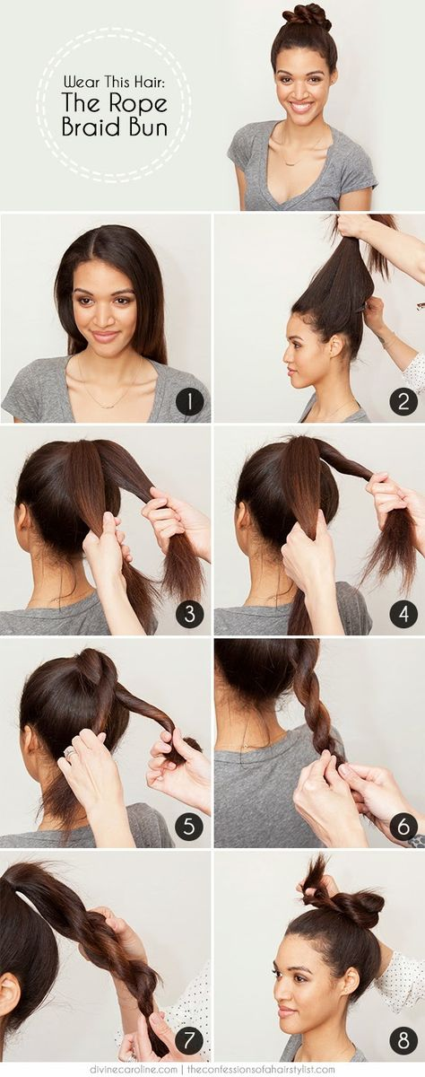 Rope Braid Bun How-to