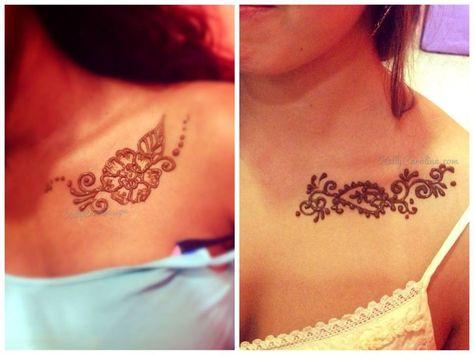 Mehndi Nape Tattoo : Indian henna back tattoos google search tattoes