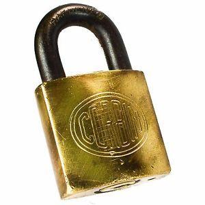 Corbin Padlock Br Vintage Old Antique Lock Rectangle Hardened