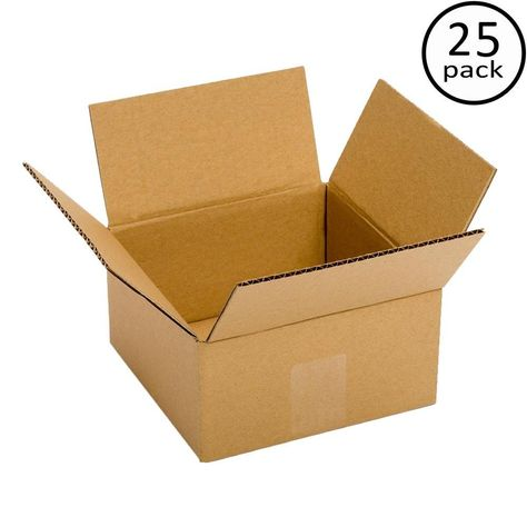 8 In X 6 In X 6 In 25 Moving Box Bundle Cardboard Recycling Corrugated Cardboard Boxes Mail Storage