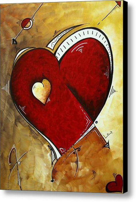 Heartbeat By Madart Canvas Print / Canvas Art By Megan Duncanson
