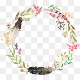 Wreath Png Vector Psd And Clipart With Transparent Background For Free Download Pngtree Free Watercolor Flowers Painted Floral Wreath Floral Wreath Watercolor