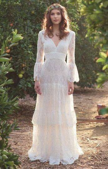 10 Geliebte Brautkleider Fur Zukunftige Hippie Braute Hippie Hochzeitskleid Brautkleid Kleider Hochzeit