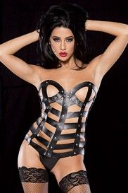 Leather Cage Bustier