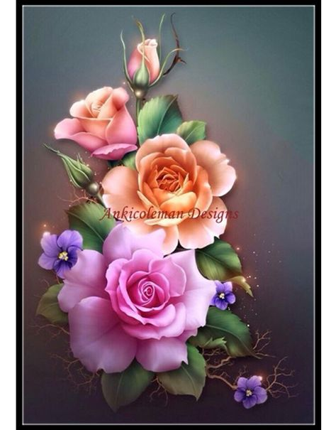 Spring Roses - Counted Cross Stitch Patterns