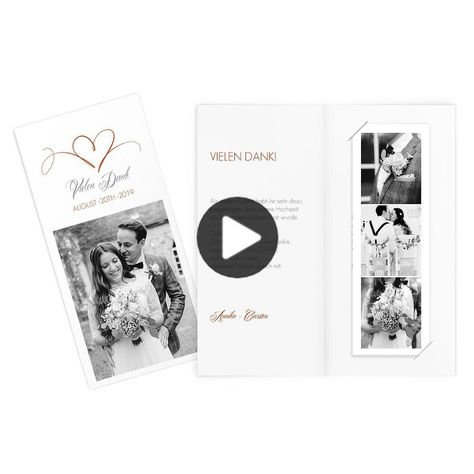 """Let the most beautiful moments of your wedding for all guests come to life once again, on the thank-you note """"heartbeat"""" is extra space for the most amazing photos with which you can show your appreciation for all the gifts and congratulations. #inspirationalquotes"""
