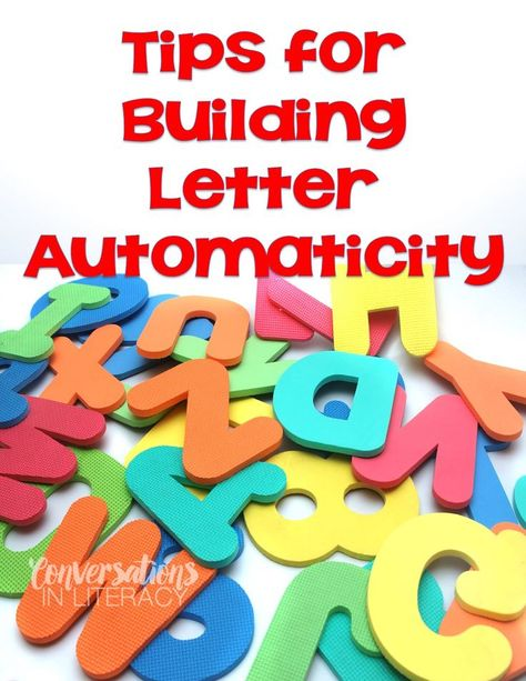Tips to Build Quick Letter Fluency