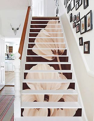 Details about  /3D Flowers Path 31 Stairs Risers Decoration Photo Mural Vinyl Decal Wallpaper US