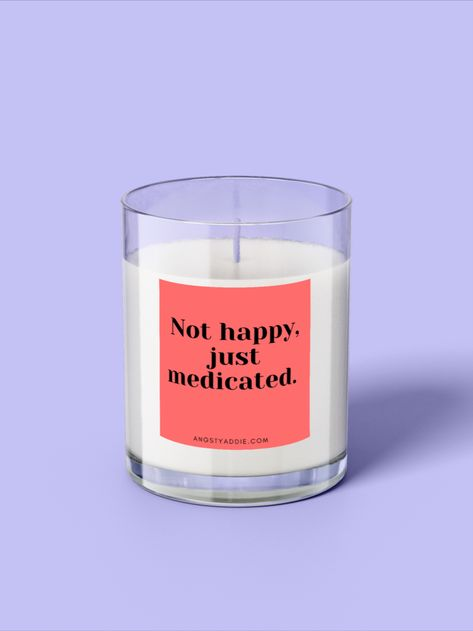 Funny candle, soy wax candle, layered candle