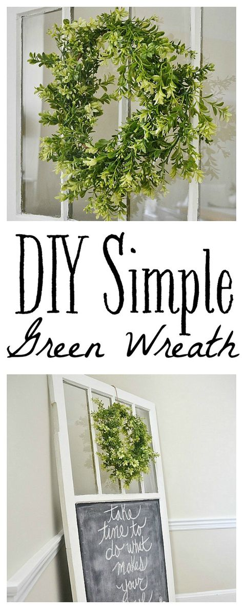 DIY simple green wreath - Seriously SO easy - costs less than $15 to make!