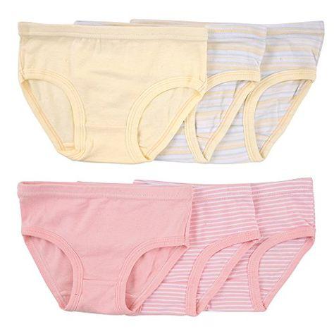 Closecret Kids Series Baby Soft Cotton Panties Little Girls Assorted Briefs Pack of 6