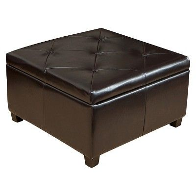 Excellent Weldon Leather Storage Ottoman Espresso Christopher Knight Alphanode Cool Chair Designs And Ideas Alphanodeonline