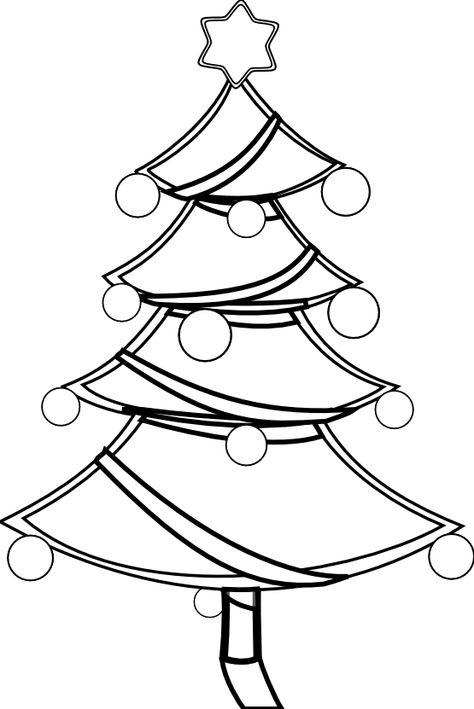 Clip Art Black And White Net Clip Art Xmas Christmas Tree 1