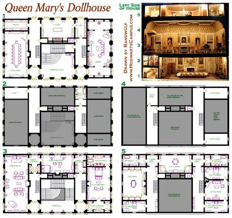 Queen Mary S Dollhouse Floor Plan The Real Thing Is In Windsor Castle Saw It When I Was A Little Girl It Ma Doll House Doll House Flooring Doll House Plans Queens house floor plan