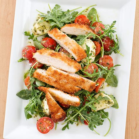 Chicken Parmesan Salad Recipe With Images Cooks Country Recipes Parmesan Salad Chicken Parmesan