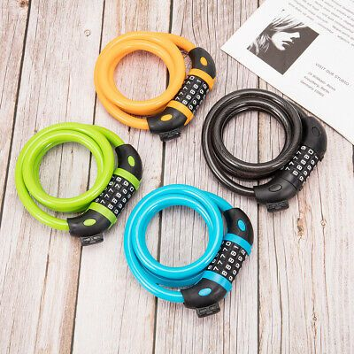 Cable Bike Lock High Security 5 Digit Password Combination Bike Lock 1.2M//4 Feet