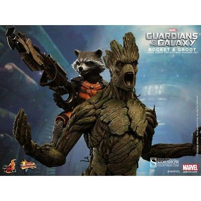 Hot Toys Guardians of the Galaxy Hot Toys 1/6th Scale Action Figure Set Rocket and Groot
