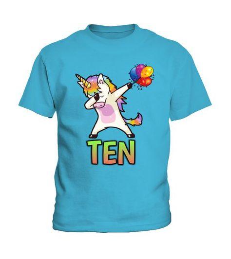 10th Birthday T-shirt Unicorn Kids T Shirts