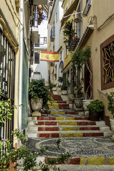 Old Town Calpe - Spain - by Steven Adams Country of my dreams