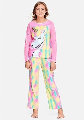 f6cf6dccd47 Pastel Unicorn Pajama Set | Justice in 2019 | Pajamas, Pajama set ...