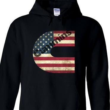 Cummins Printed Hoodie Cummins American Flag Pullover Hoodie Sweatershirtdresslliy Hoodie Print Hoodies Pullover Hoodie